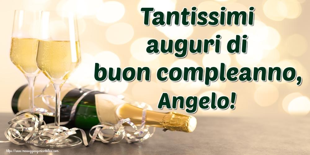 Cartoline di auguri - Tantissimi auguri di buon compleanno, Angelo!