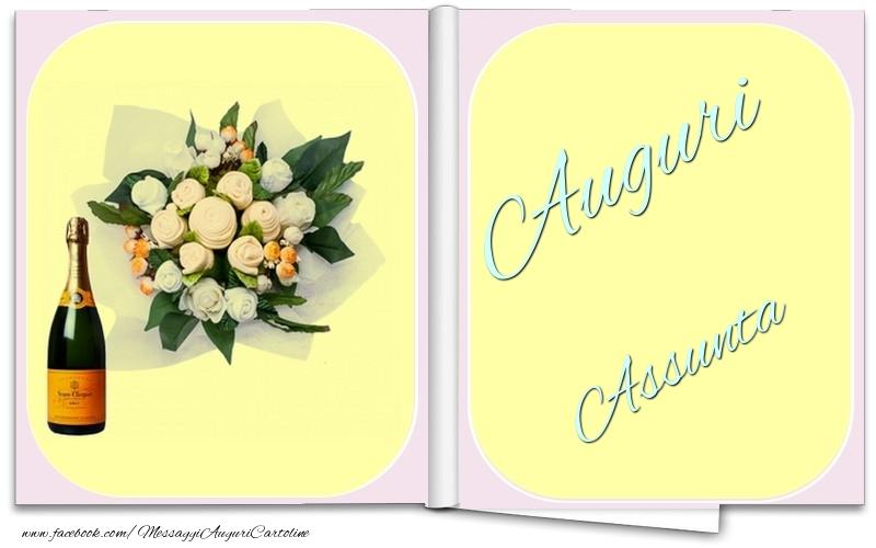Cartoline di auguri - Auguri Assunta