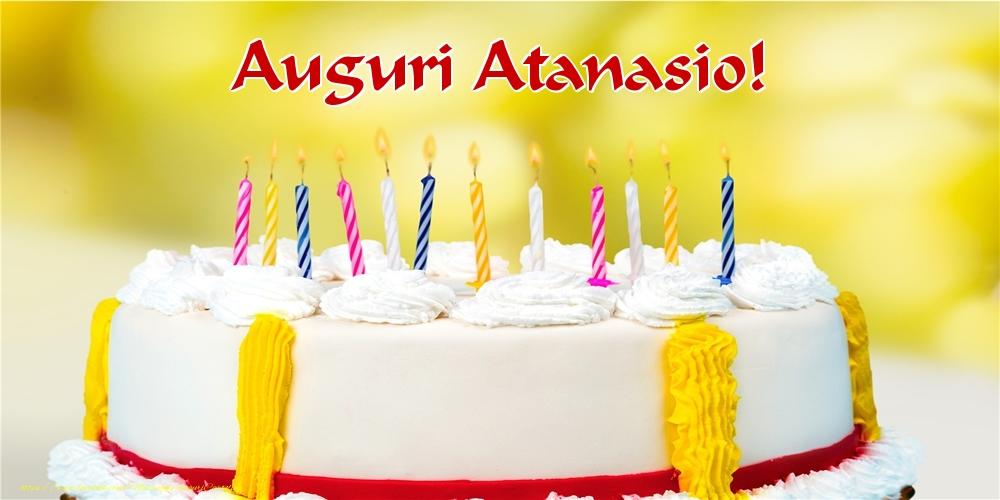 Cartoline di auguri - Auguri Atanasio!