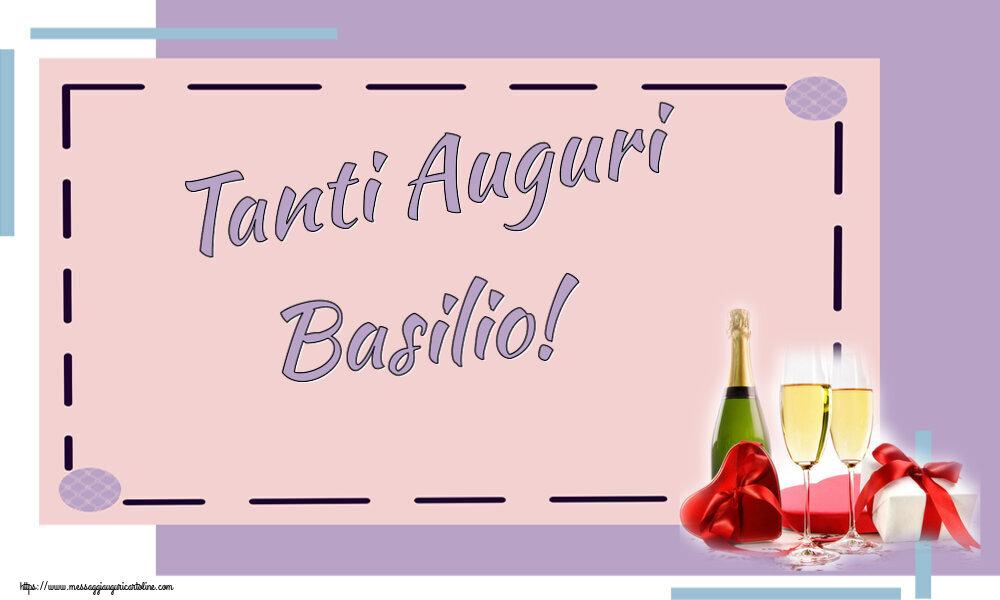 Cartoline di auguri - Tanti Auguri Basilio!