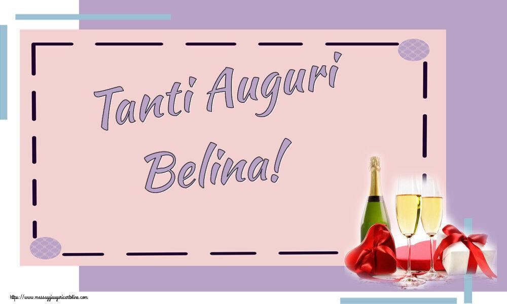 Cartoline di auguri - Tanti Auguri Belina!