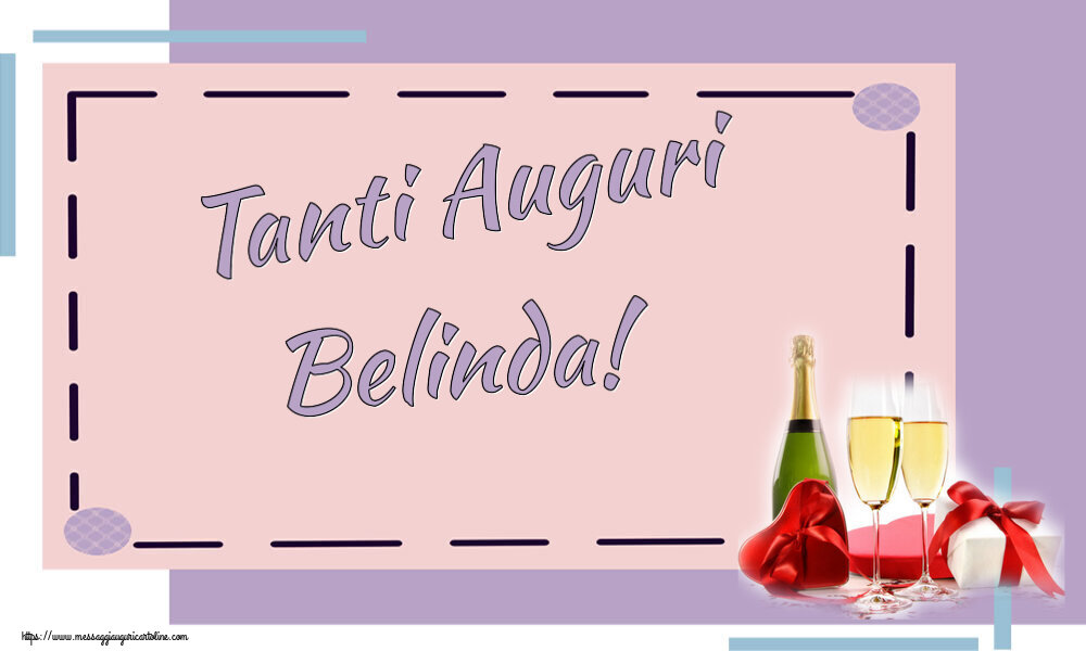 Cartoline di auguri - Tanti Auguri Belinda!