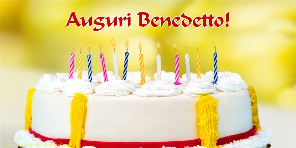 Cartoline di auguri - Auguri Benedetto!