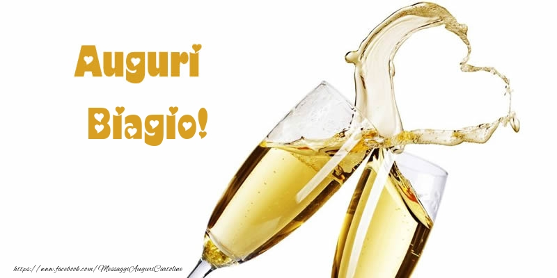 Cartoline di auguri - Auguri Biagio!