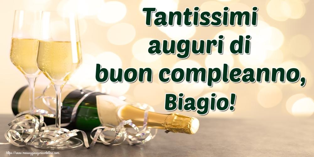 Cartoline di auguri - Tantissimi auguri di buon compleanno, Biagio!