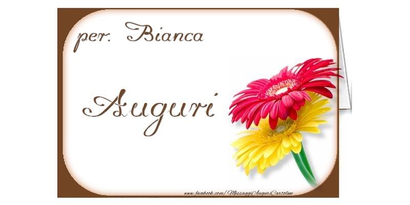 Cartoline di auguri - Auguri, Bianca