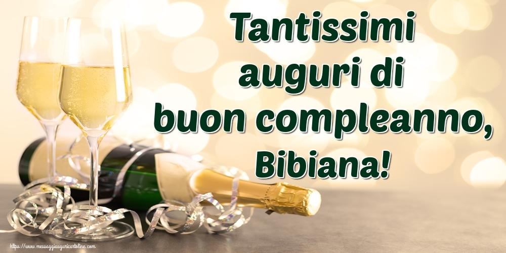 Cartoline di auguri - Tantissimi auguri di buon compleanno, Bibiana!