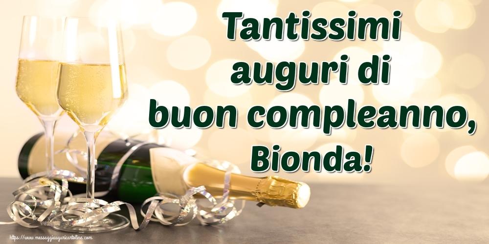 Cartoline di auguri - Tantissimi auguri di buon compleanno, Bionda!