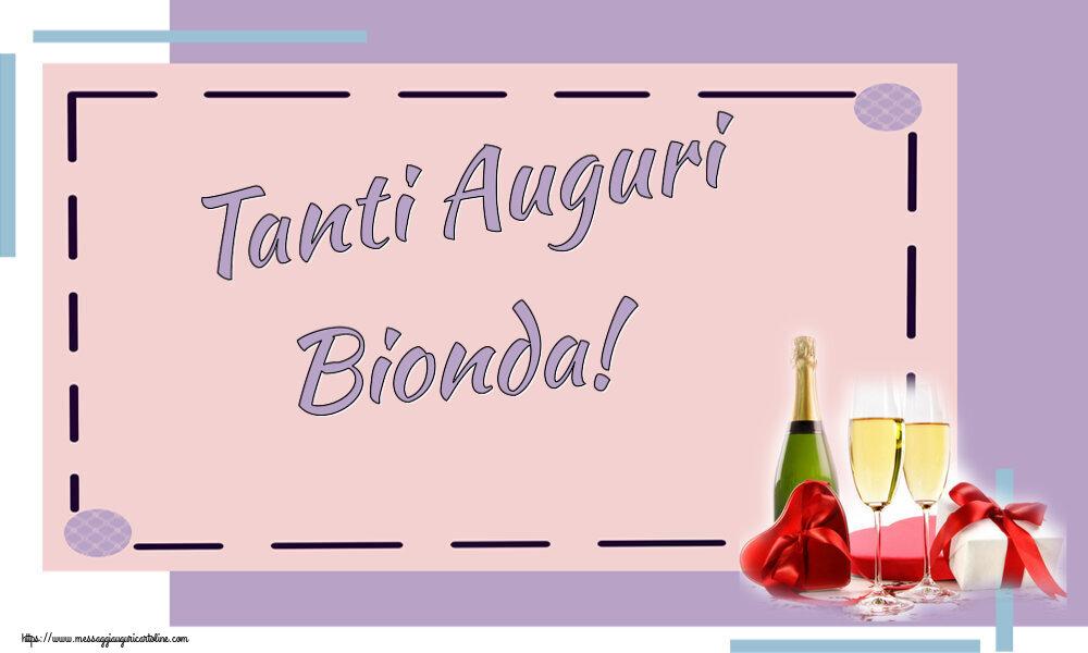 Cartoline di auguri - Tanti Auguri Bionda!
