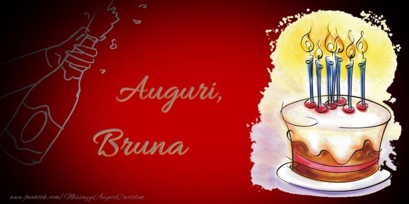 Cartoline di auguri - Auguri, Bruna