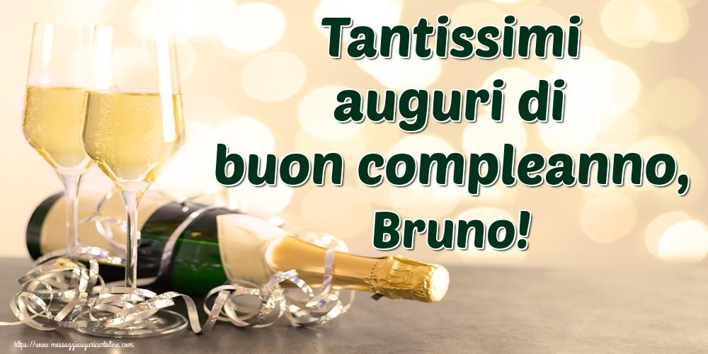 Cartoline di auguri - Tantissimi auguri di buon compleanno, Bruno!