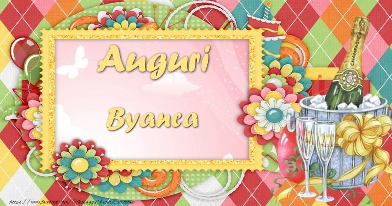 Cartoline di auguri - Auguri Byanca