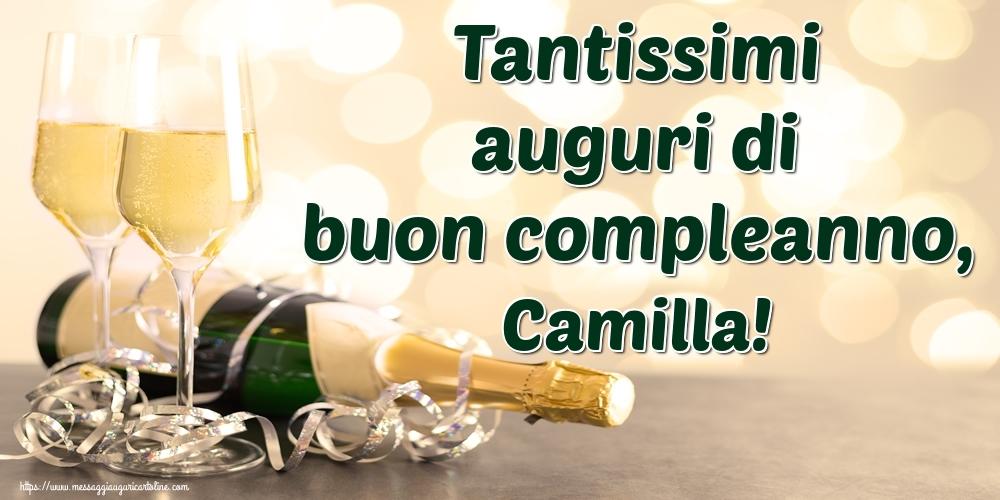 Cartoline di auguri - Tantissimi auguri di buon compleanno, Camilla!