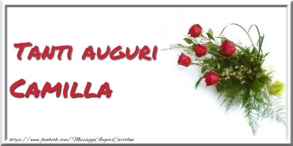 Cartoline di auguri - Tanti auguri  Camilla