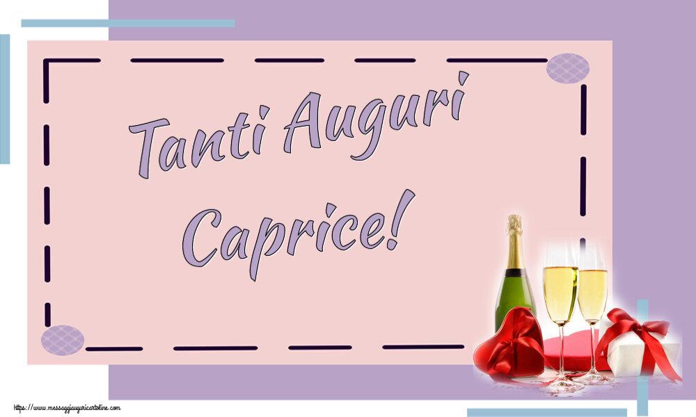 Cartoline di auguri - Tanti Auguri Caprice!