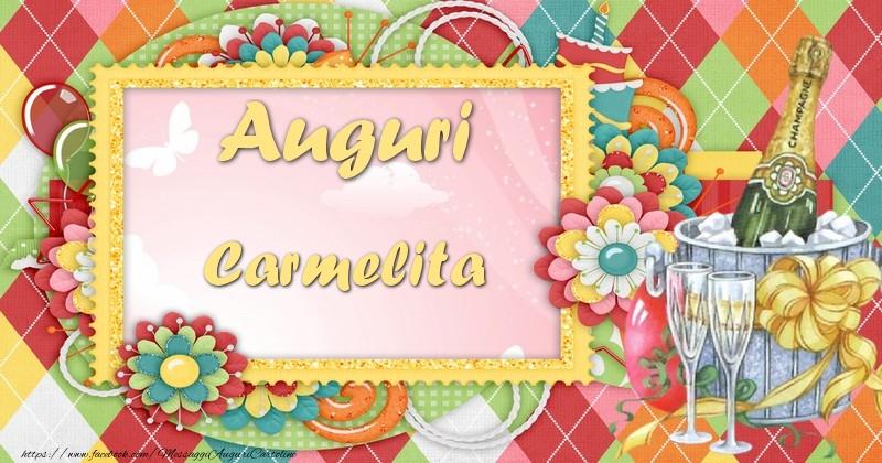 Cartoline di auguri - Auguri Carmelita