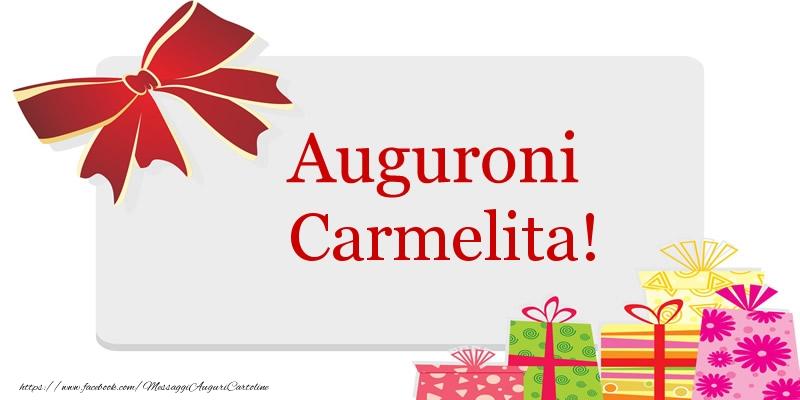 Cartoline di auguri - Auguroni Carmelita!