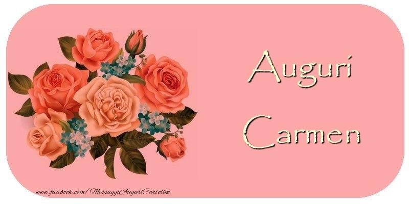 Cartoline di auguri - Auguri Carmen