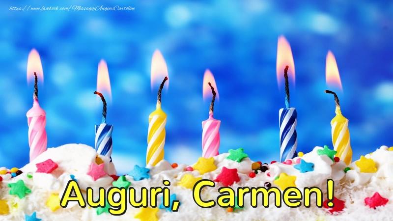 Cartoline di auguri - Auguri, Carmen!