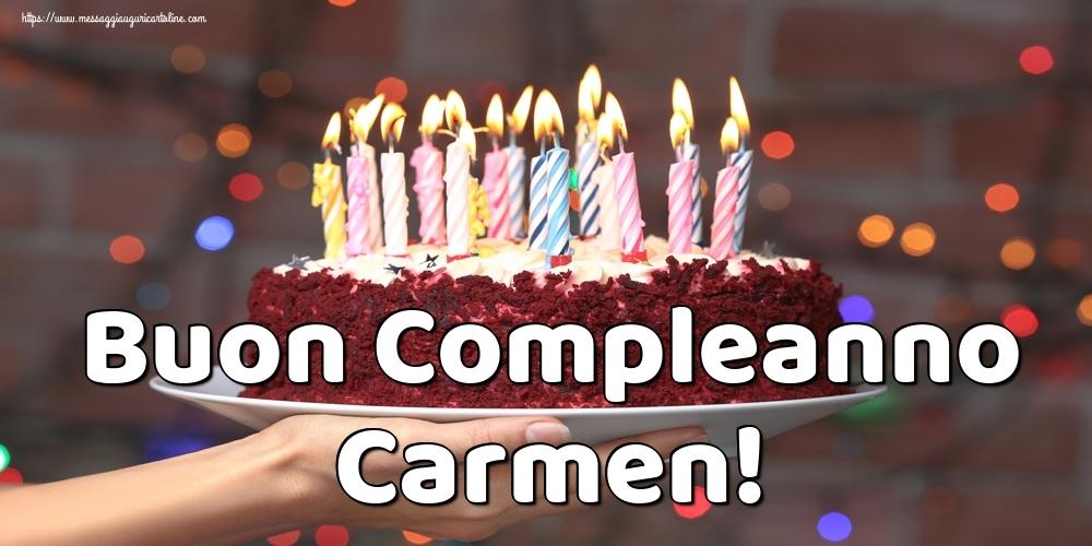 Cartoline di auguri - Buon Compleanno Carmen!