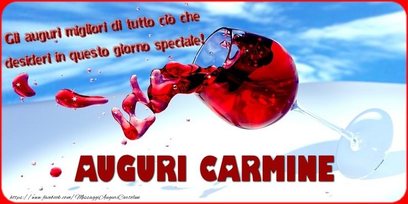 Cartoline di auguri - Tanti auguri  Carmine