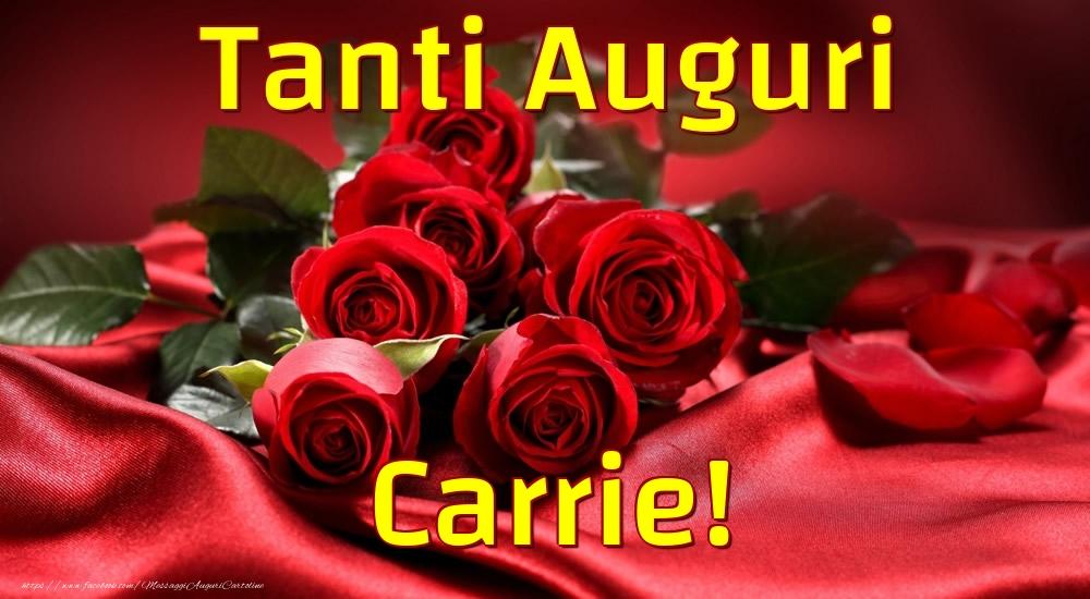 Cartoline di auguri - Tanti Auguri Carrie!