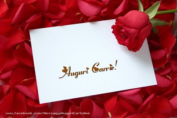 Cartoline di auguri - Auguri Carrie!