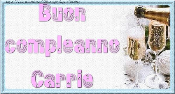 Cartoline di auguri - Buon compleanno Carrie