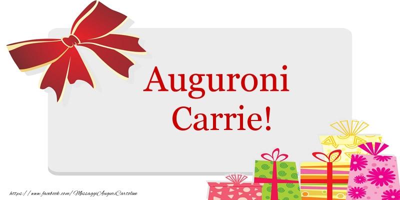 Cartoline di auguri - Auguroni Carrie!