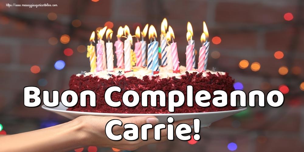 Cartoline di auguri - Buon Compleanno Carrie!
