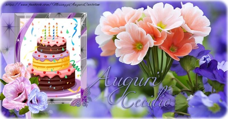Cartoline di auguri - Auguri Cecilio