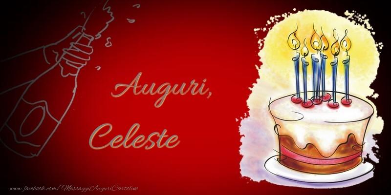 Cartoline di auguri - Auguri, Celeste