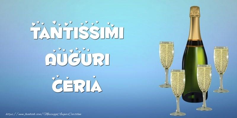 Cartoline di auguri - Tantissimi Auguri Ceria champagne