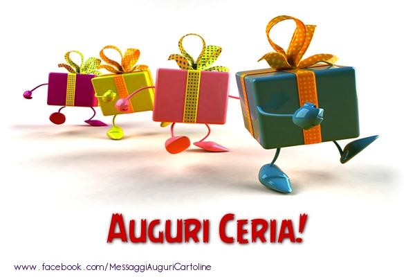 Cartoline di auguri - Auguri Ceria!