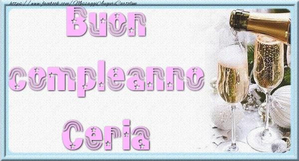 Cartoline di auguri - Buon compleanno Ceria