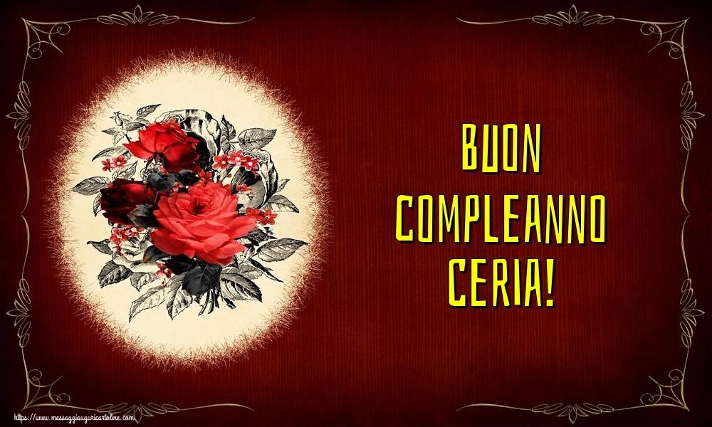 Cartoline di auguri - Buon compleanno Ceria!