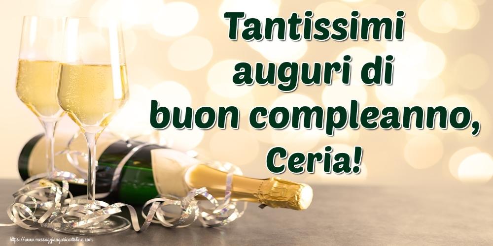 Cartoline di auguri - Tantissimi auguri di buon compleanno, Ceria!