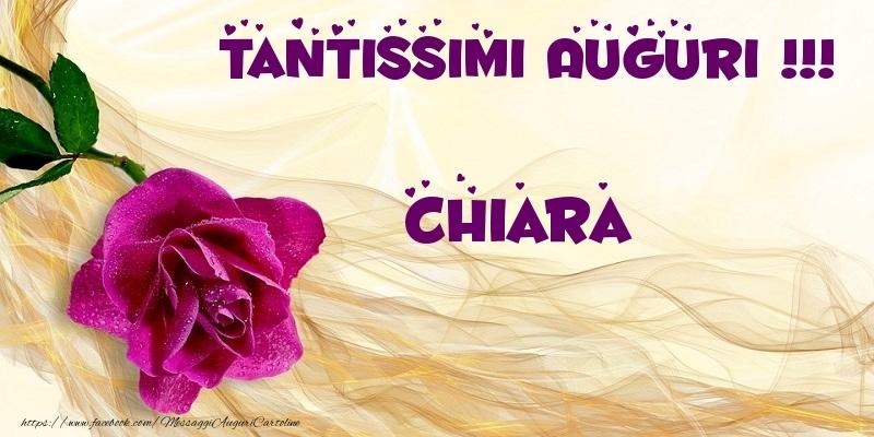 Cartoline di auguri - Tantissimi Auguri !!! Chiara