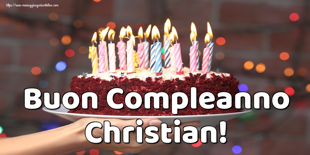 Cartoline di auguri - Buon Compleanno Christian!