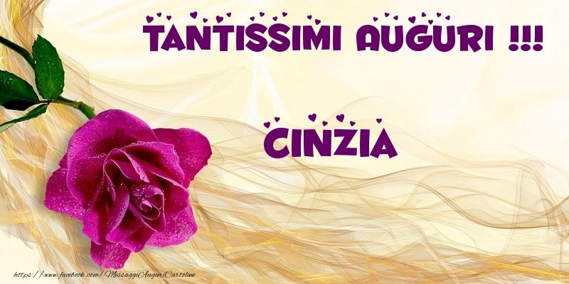 Cartoline di auguri - Tantissimi Auguri !!! Cinzia