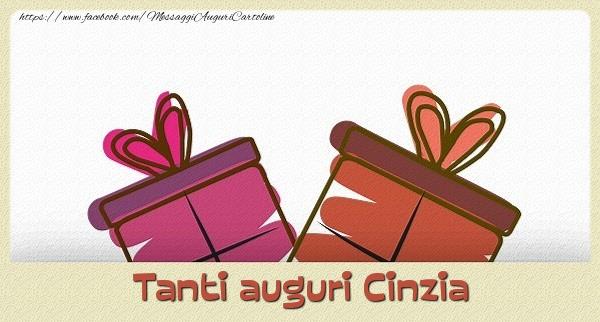 Cartoline di auguri - Tanti  auguri Cinzia