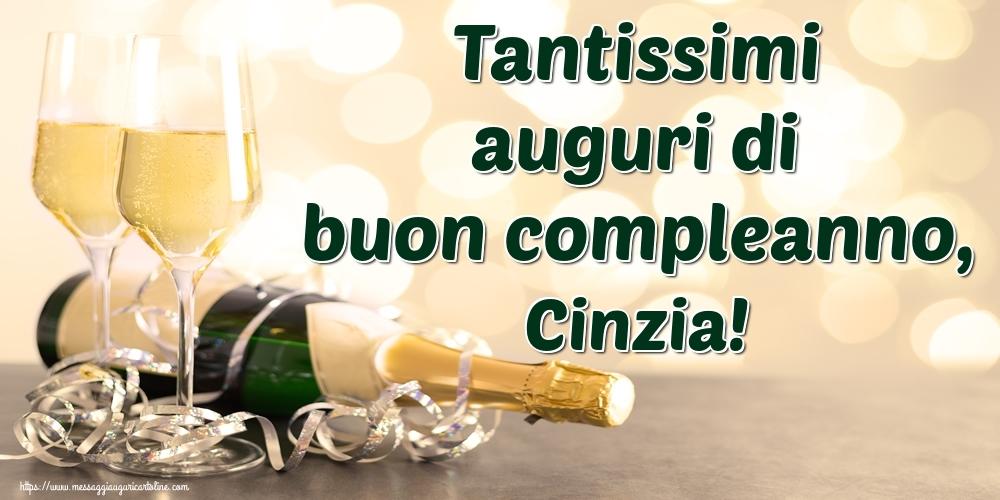 Cartoline di auguri - Tantissimi auguri di buon compleanno, Cinzia!