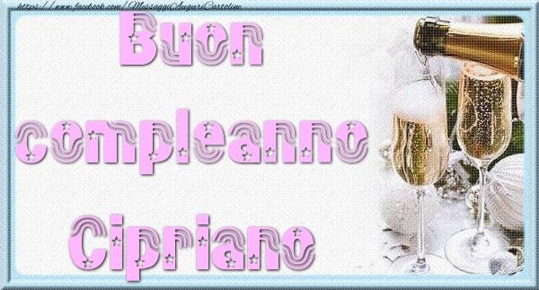 Cartoline di auguri - Buon compleanno Cipriano