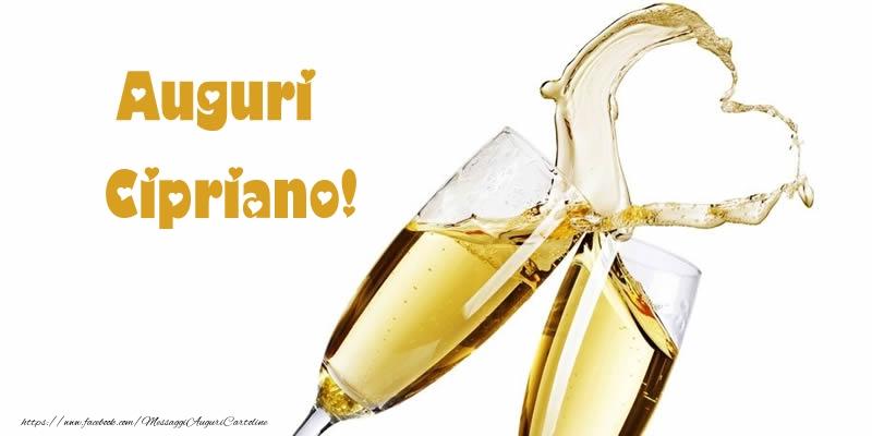 Cartoline di auguri - Auguri Cipriano!