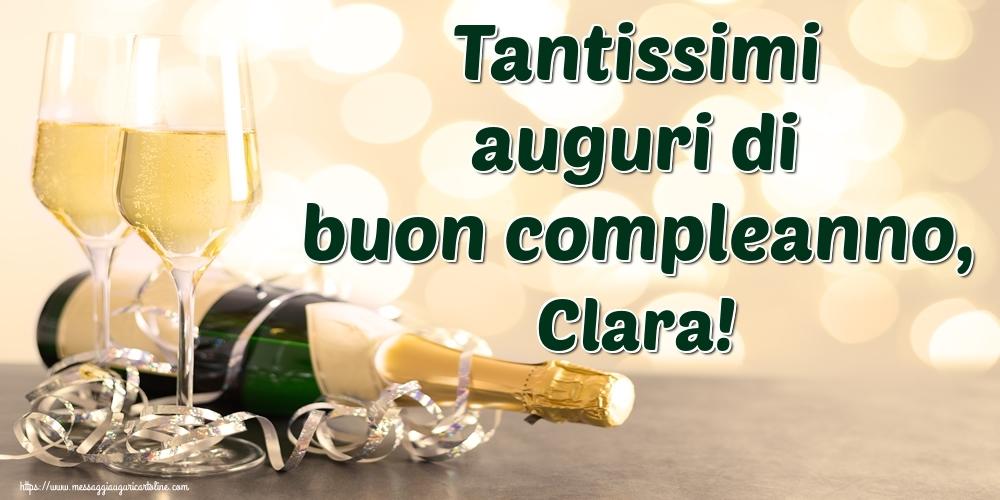 Cartoline di auguri - Tantissimi auguri di buon compleanno, Clara!
