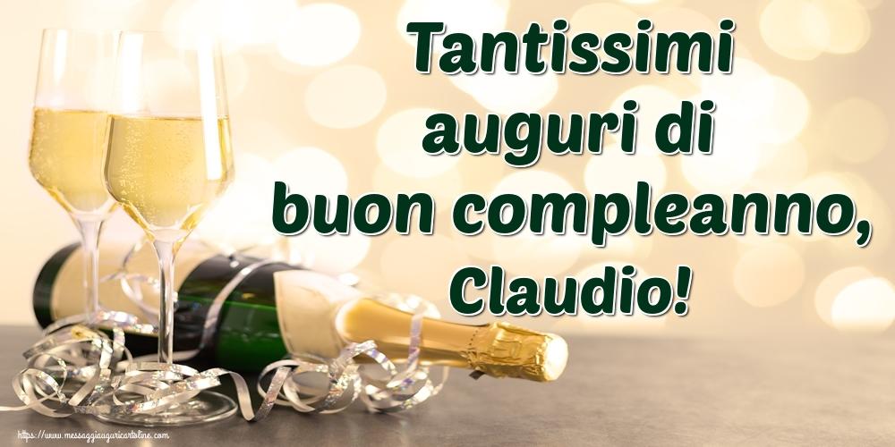 Cartoline di auguri - Tantissimi auguri di buon compleanno, Claudio!