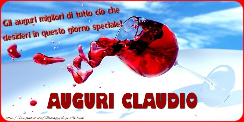 Cartoline di auguri - Tanti auguri  Claudio