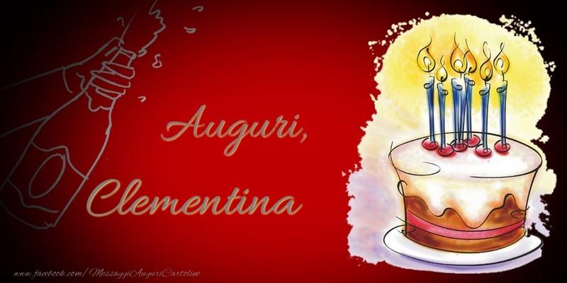 Cartoline di auguri - Auguri, Clementina