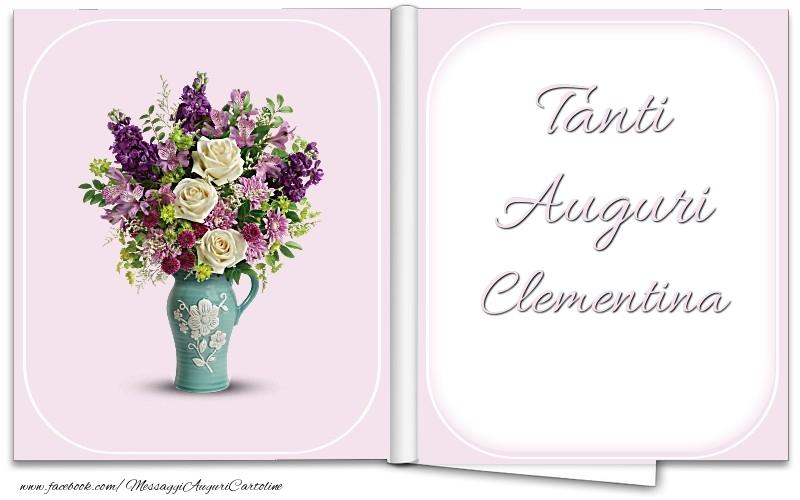 Cartoline di auguri - Tanti Auguri Clementina