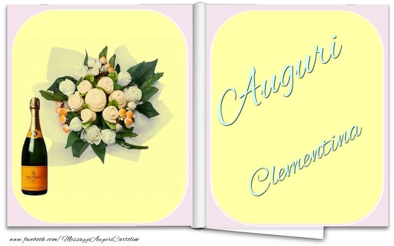Cartoline di auguri - Auguri Clementina